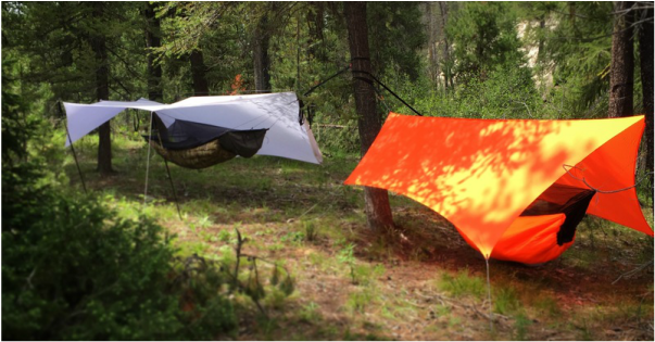 Hammock, Tarp, Under quilt, Hiking, Backpacking, Arrowhead, Equipment, Orange, Guyline, Ridgeline, Porch mode, Idaho, Hammock camping, Tent,