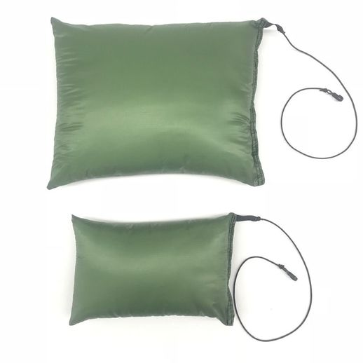 Bear and Cub Pillows by Arrowhead Equipment size comparison.  Hammock Camping luxury,