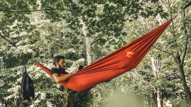 Camping with a hammock made by Arrowhead Equipment, Quilts for hammocks, tarps for hammock, how to hammock camp, learn how to hammock camping, backpacking with a hammock,
